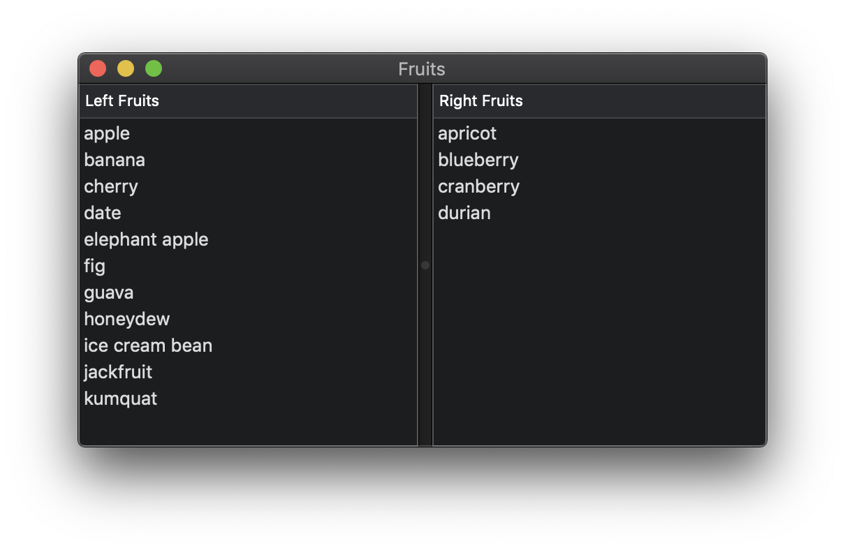 Fruits App screenshot